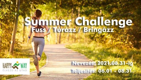 Summer Challenge - fuss - túrázz - bringázz