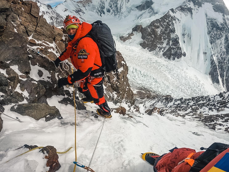 Tamara Lunger az akklimatizációs mászás során